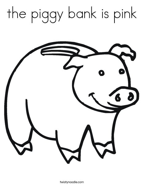 468x605 The Piggy Bank Is Pink Coloring Page