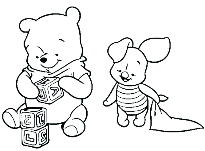 The best free Piglet coloring page images. Download from 231 free ...