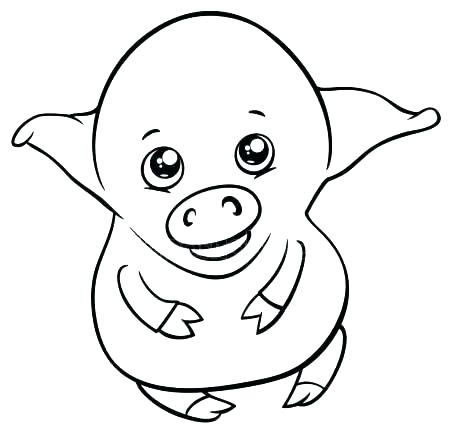 450x434 Cute Pig Coloring Pages Baby Piglet