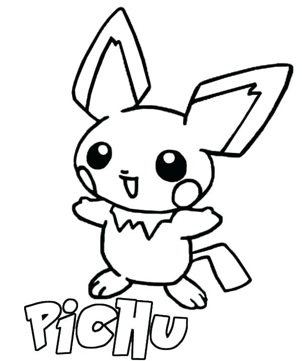 600x718 Pichu Coloring Pages Coloring Pages Line Art