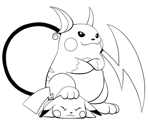 Pikachu And Pichu Coloring Pages At Getdrawings Com Free For