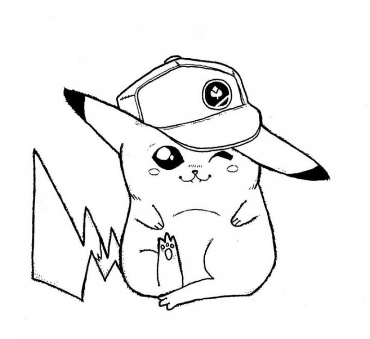 1200x1099 Pichu Coloring Pages Fee Pikachu Pokemon Page Free Lively Cute