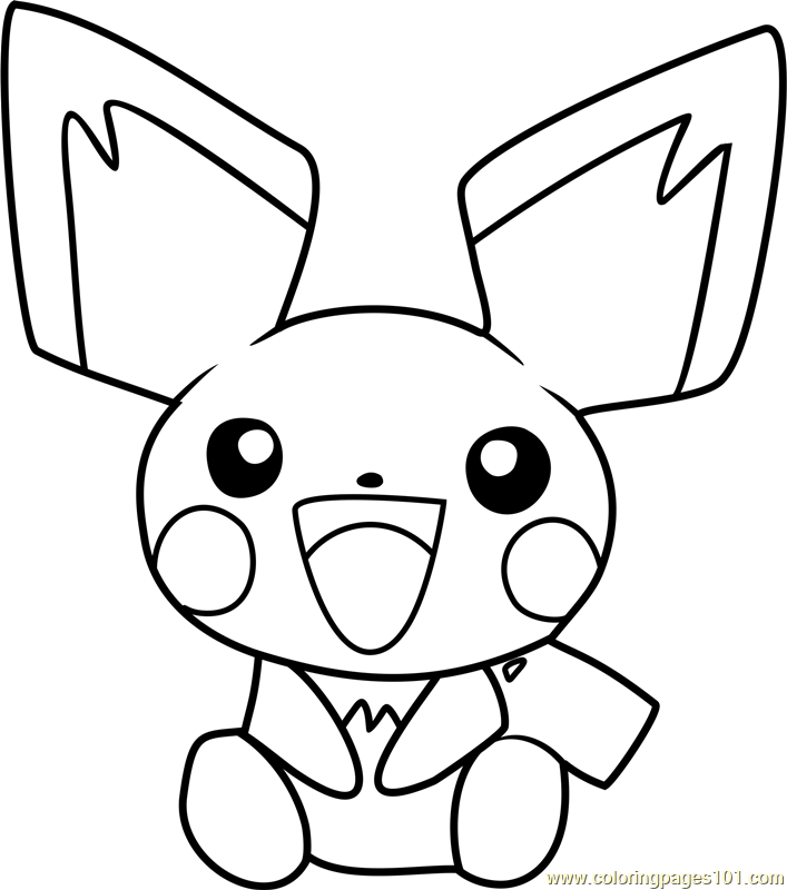707x800 Pokemon Coloring Pages Of Pichu