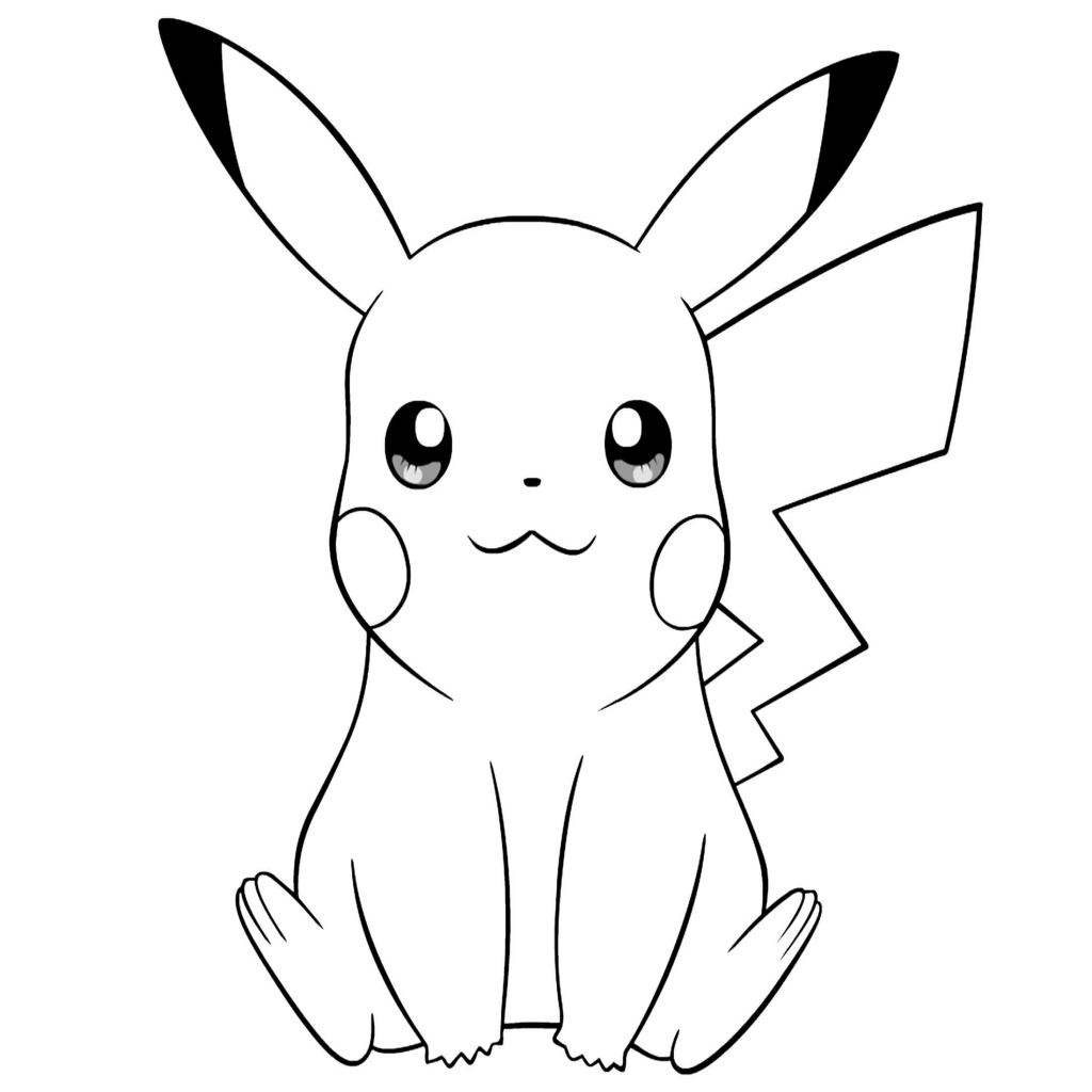 1024x1024 The Most Artistic Pokemon Pichu Coloring Pages