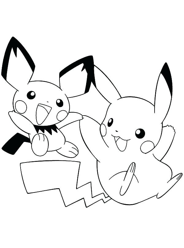 600x809 Unusual Pikachu And Pichu Coloring Pages Pictures Inspiration