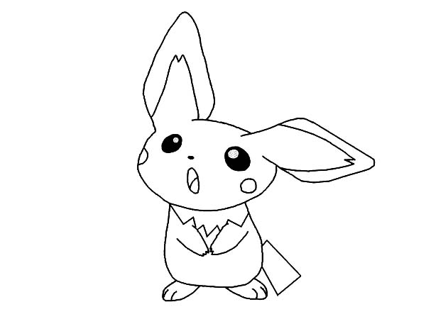 600x450 Pichu Coloring Pages