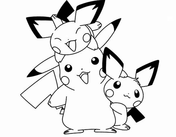 600x466 Pichu Coloring Pages
