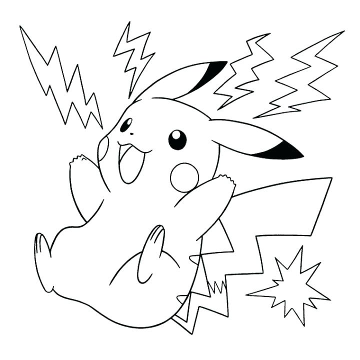 720x720 Pikachu Color Pages Coloring Pages Coloring Pages Printable