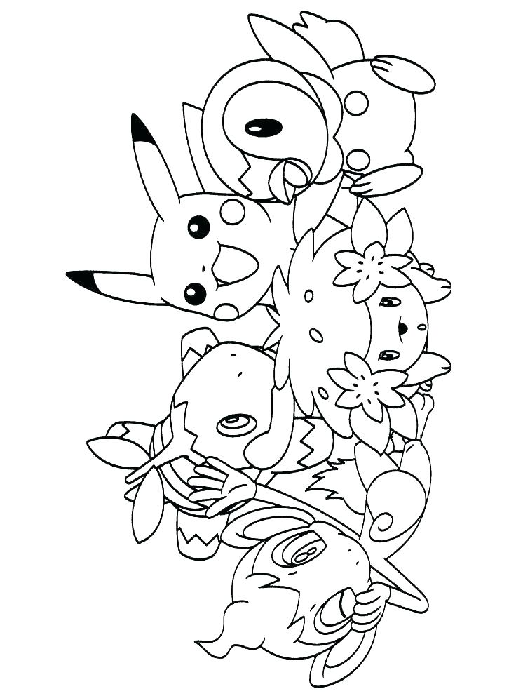736x992 Pokemon Coloring Pages Pikachu Ex To Download And Print Full Of Go