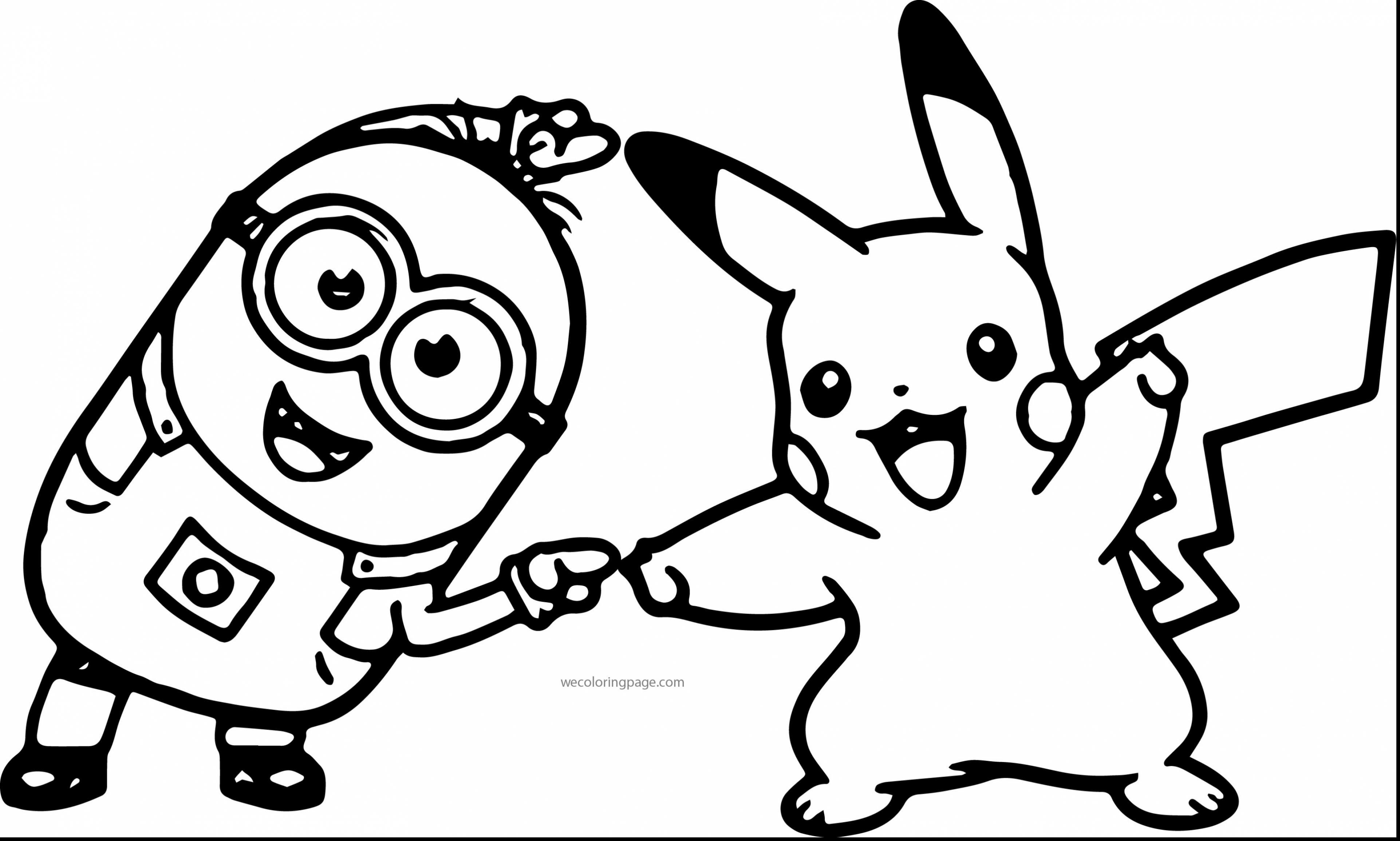 3845x2311 Pikachu Coloring Pages Picachu Astonishing Minion Pokemon Pikachu