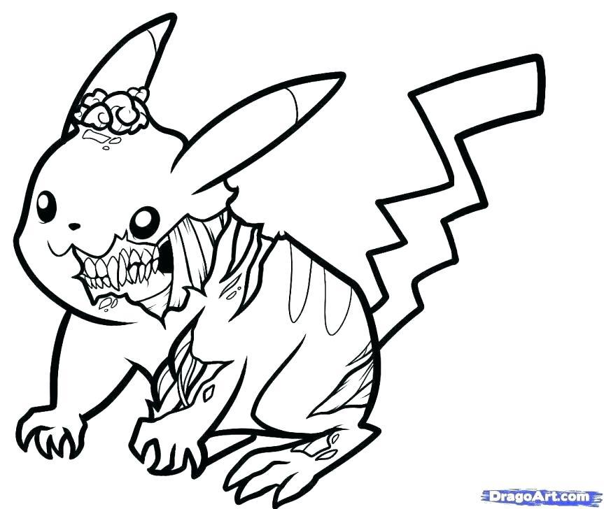 863x728 Pokemon Pikachu Coloring Pages Free