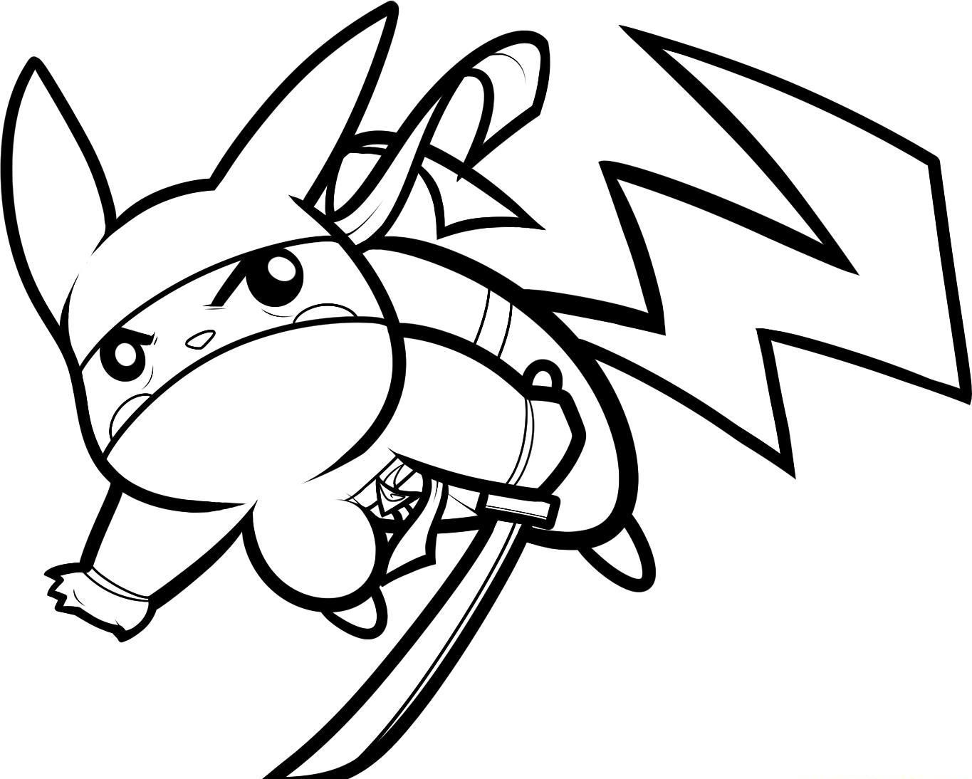 1365x1094 Ninja Pikachu Coloring Page Colouring Pages