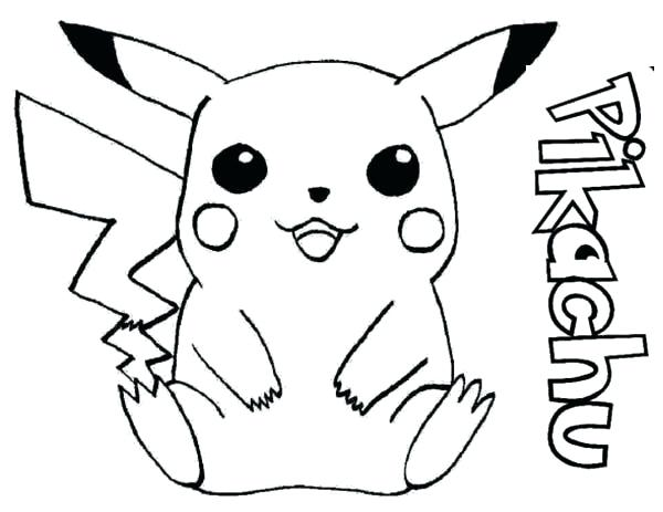 600x463 Picachu Coloring Pages Coloring Pages Happy Hopping Around