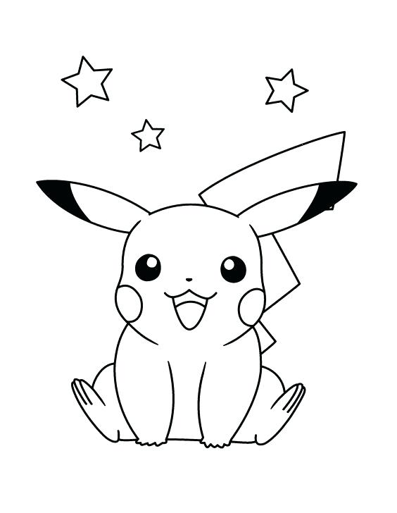 564x728 Pikachu Coloring Pages Free Coloring Pages To Print A Pikachu