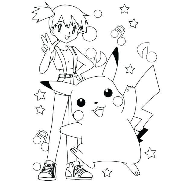 600x600 Pikachu Coloring Pages Printable