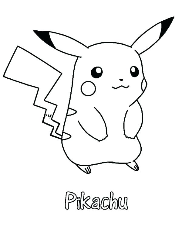 Pikachu Coloring Pages To Print At Getdrawings Free Download