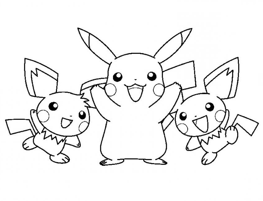 850x651 Pikachu Free Coloring Pages