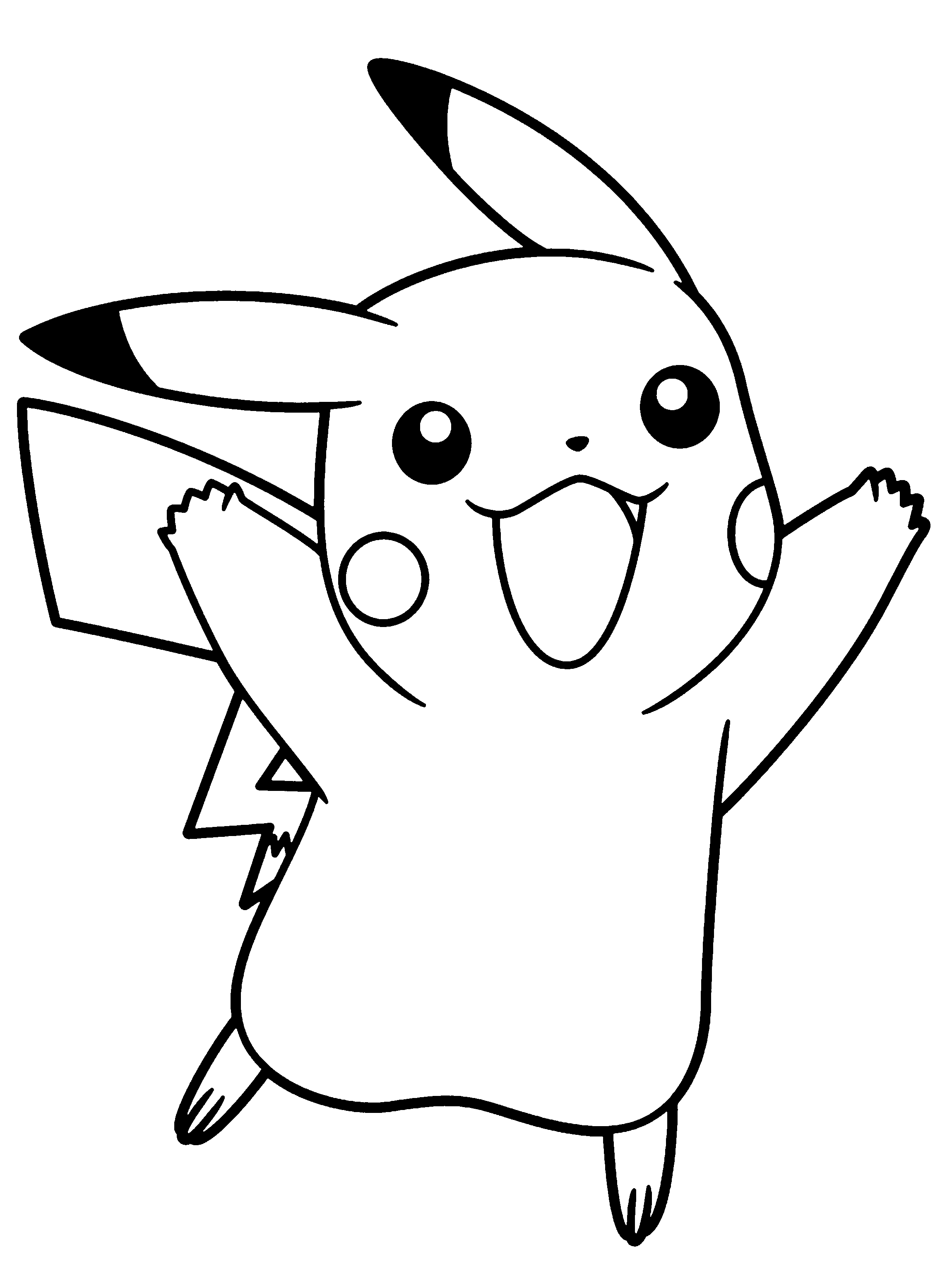 2300x3100 Pikachu Coloring Pages To Download And Print For Free Painting