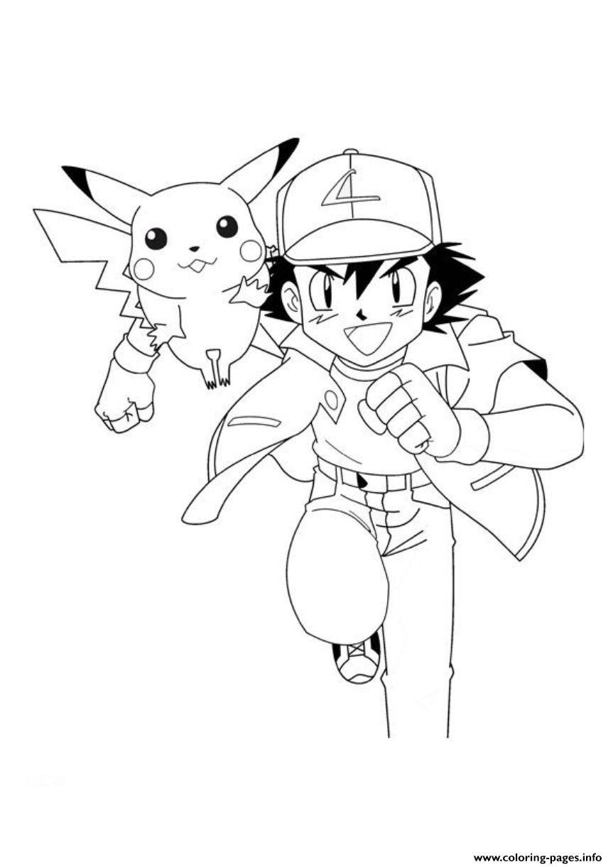 863x1221 Print Pokemon Ash And Pikachu Coloring Pages Pokemon