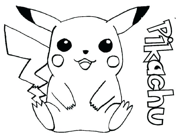 600x463 Pikachu Coloring Page