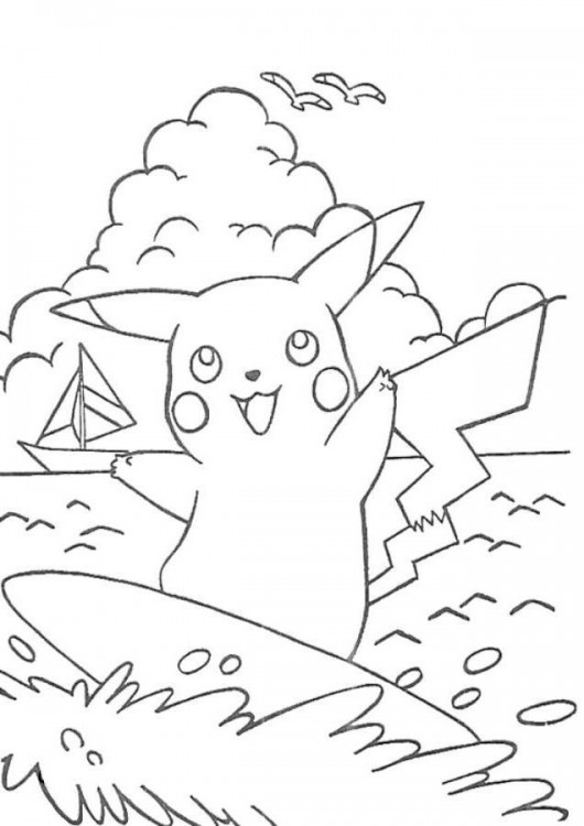 530x750 Free Printable Pikachu Coloring Pages For Kids