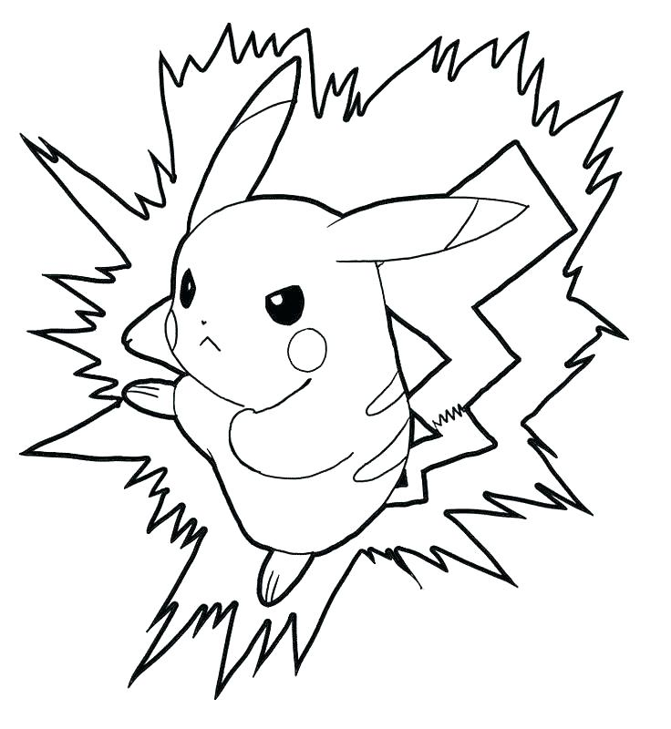 736x800 Pikachu Coloring Pages Coloring Page Printable Coloring Pages