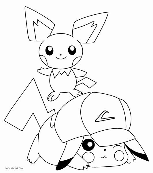 531x600 Printable Pikachu Coloring Pages For Kids