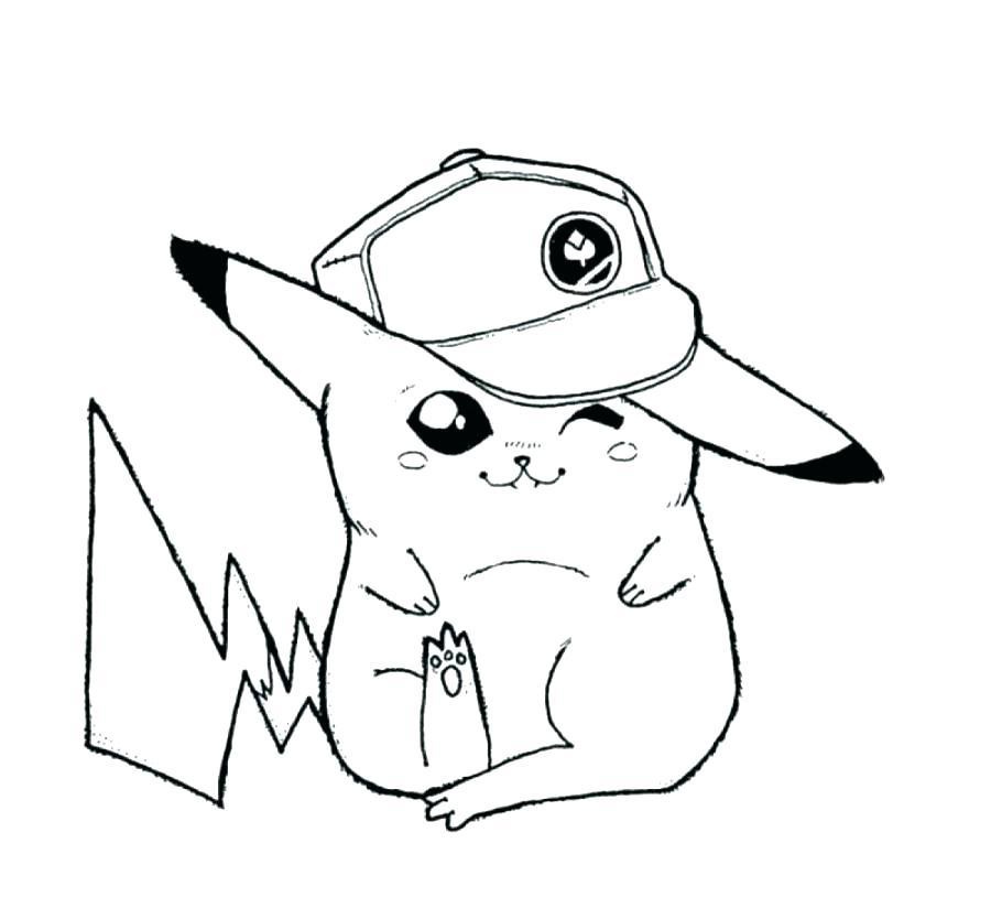 900x824 Pikachu Color Pages