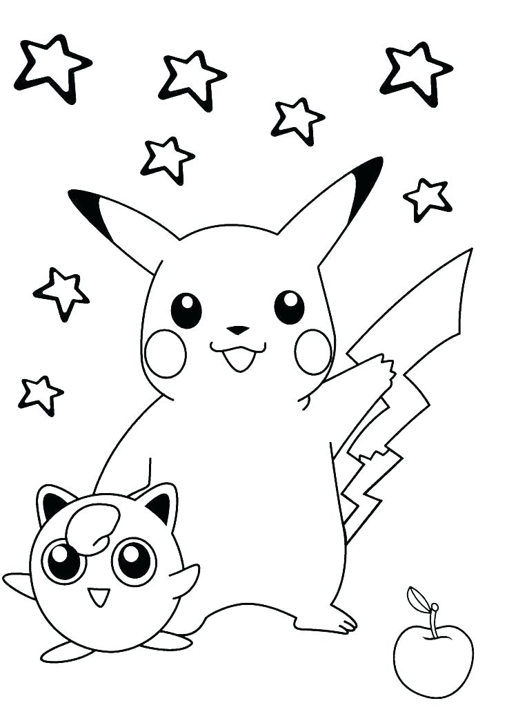 735x1031 Coloring Pages Of Pikachu Printable Coloring Pages Coloring Pages