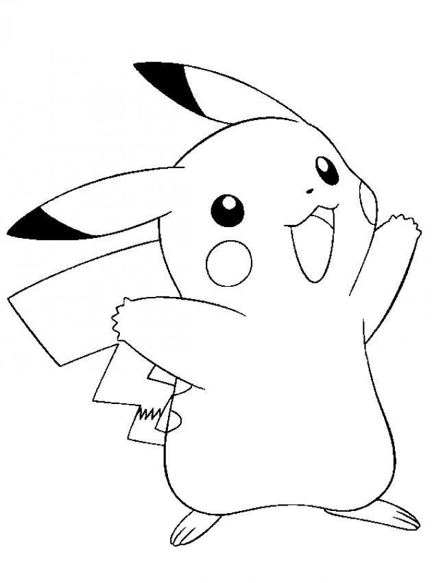 630x850 Free Printable Pikachu Coloring Pages For Kids