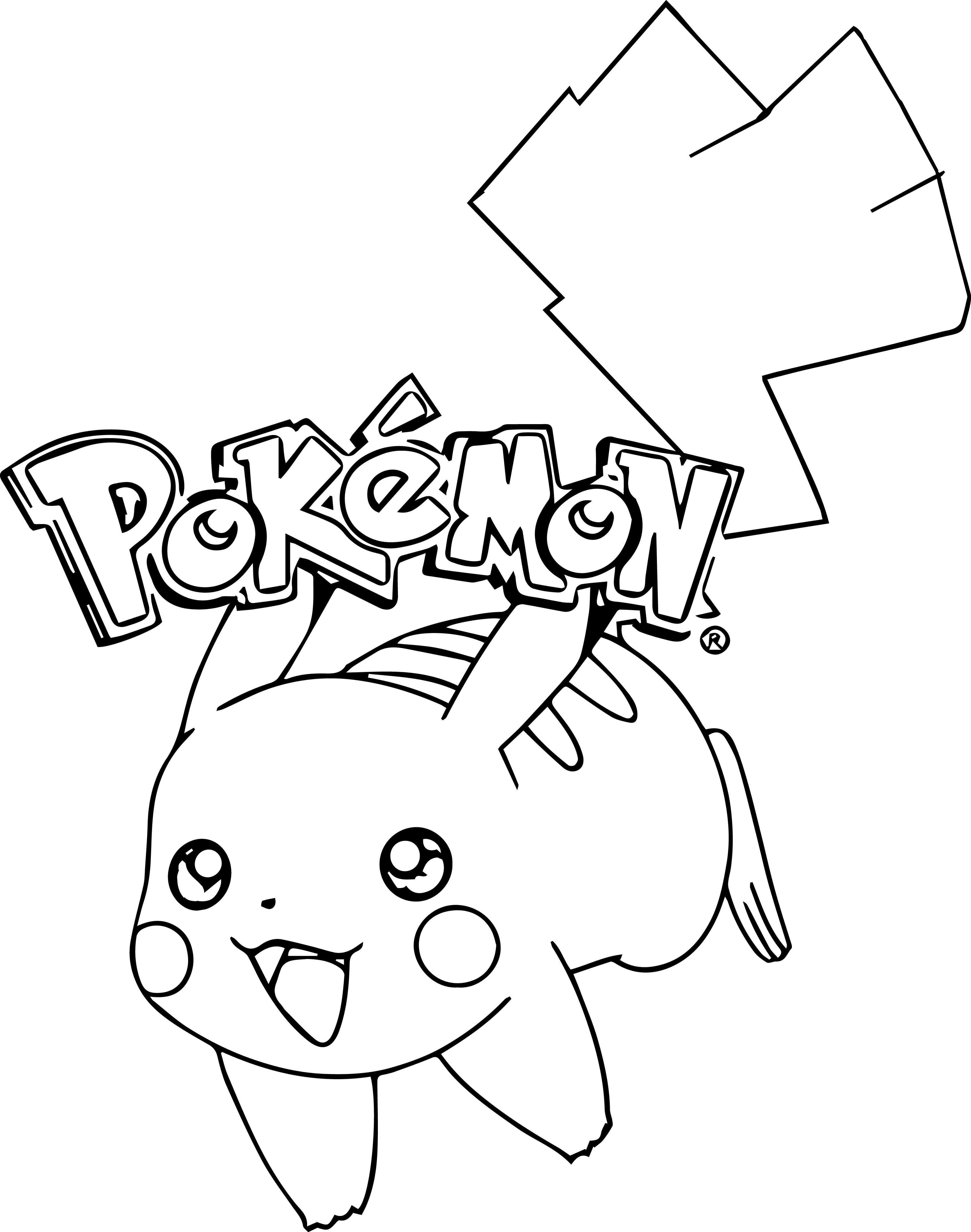image relating to Pikachu Printable Coloring Pages titled Pikachu With Hat Coloring Internet pages at  Totally free