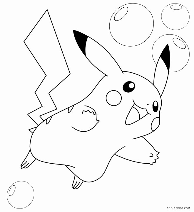 660x723 Pikachu Coloring Pages
