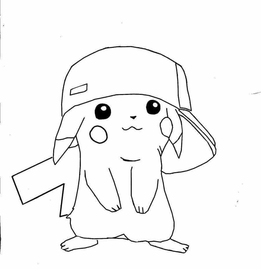 900x928 Pikachu Coloring Pages Printable Free Adorable Olegratiy