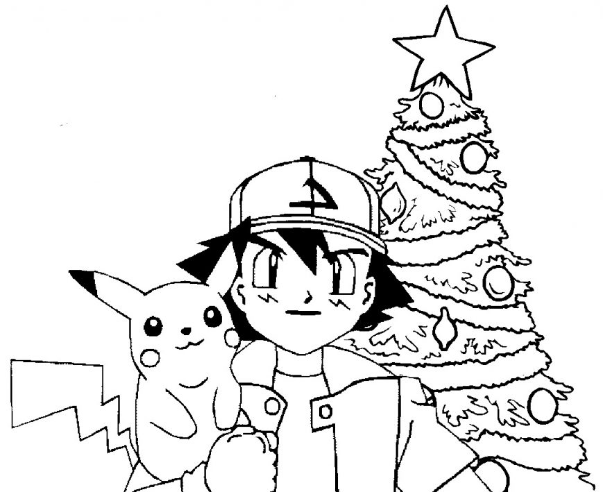 869x709 Pokemon Coloring Pages Pikachu Hat And Friends Ninja Photos