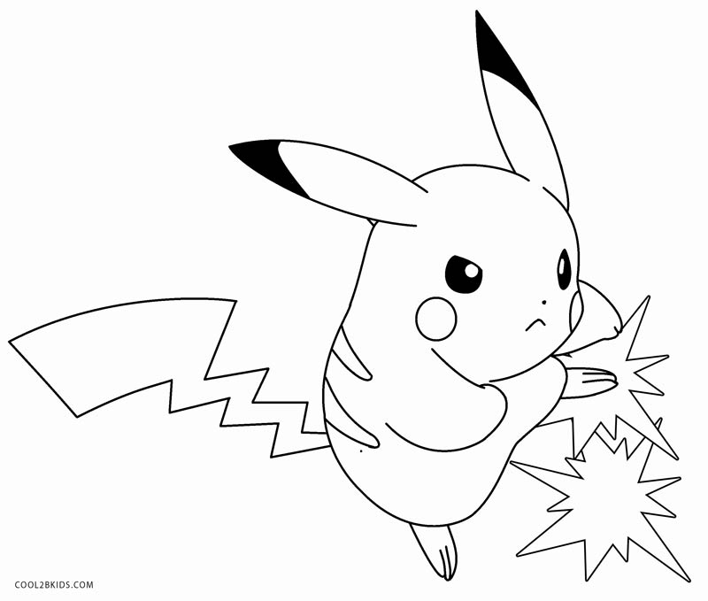 800x679 Printable Pikachu Coloring Pages For Kids