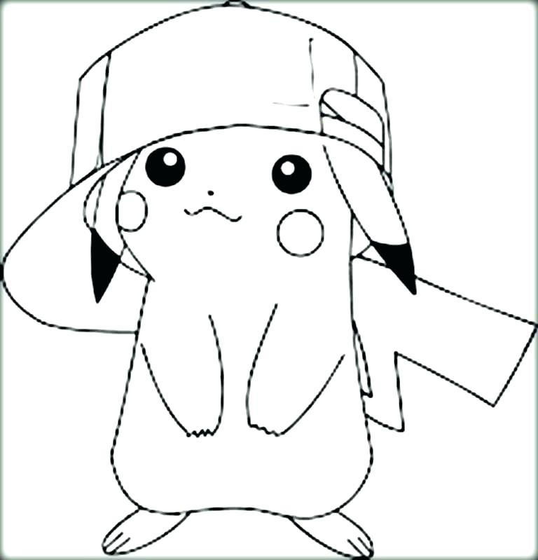 768x799 Pikachu Coloring Pages
