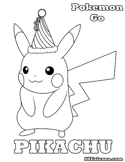 400x517 Free Pikachu Party Hat Printable Coloring Page Skgaleana