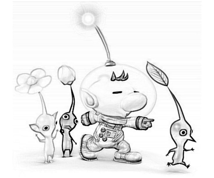 Pikmin Coloring Pages