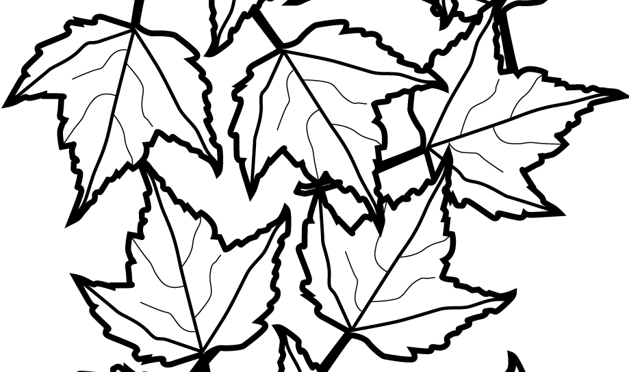 919x544 Coloring For Kids Archaicawful Pile Of Leavess Leaves Pages