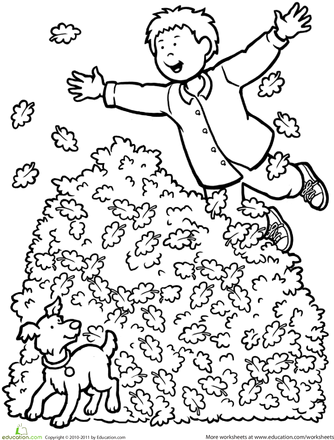 334x440 Fall Leaf Coloring Page Fall Leaves, Worksheets And Leaves