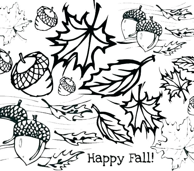 678x600 Leaves Coloring Page Orange Coloring Page Fall Leaf Coloring Page