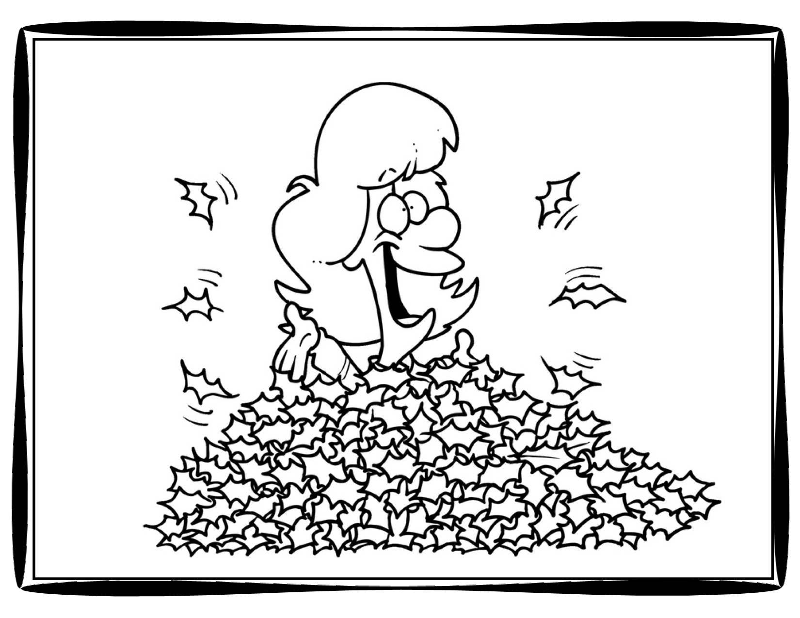 1650x1275 Autumn Leaves Coloring Pages