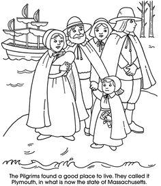 Pilgrim Coloring Pages at GetDrawings.com | Free for ...