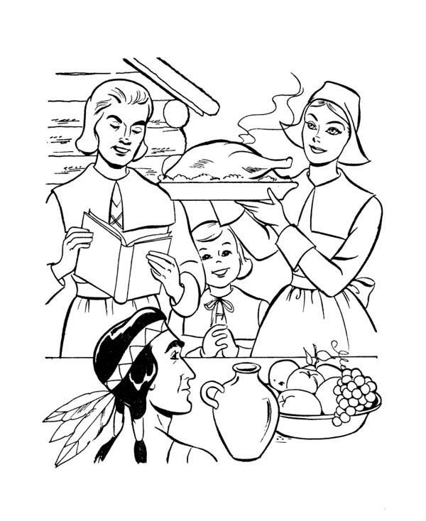 600x734 Wondrous Design Ideas Pilgrim Coloring Pages Printable Pilgrims Me