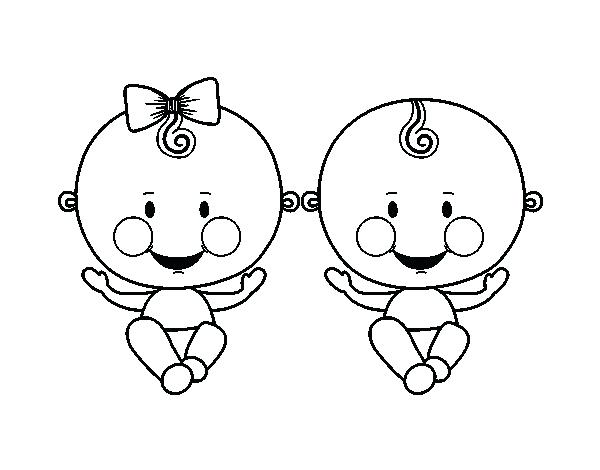 600x470 Twin Boy Girl Coloring Page Twin Boy Girl Pilgrim Boy