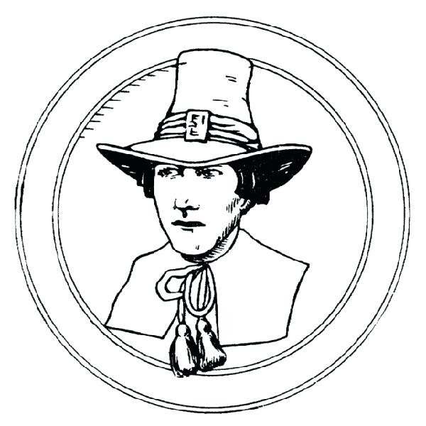 picture regarding Pilgrim Bonnet Template Printable referred to as Pilgrim Hat Coloring Webpage at  Absolutely free for