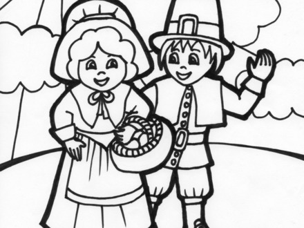 Pilgrims Coloring Pages Free