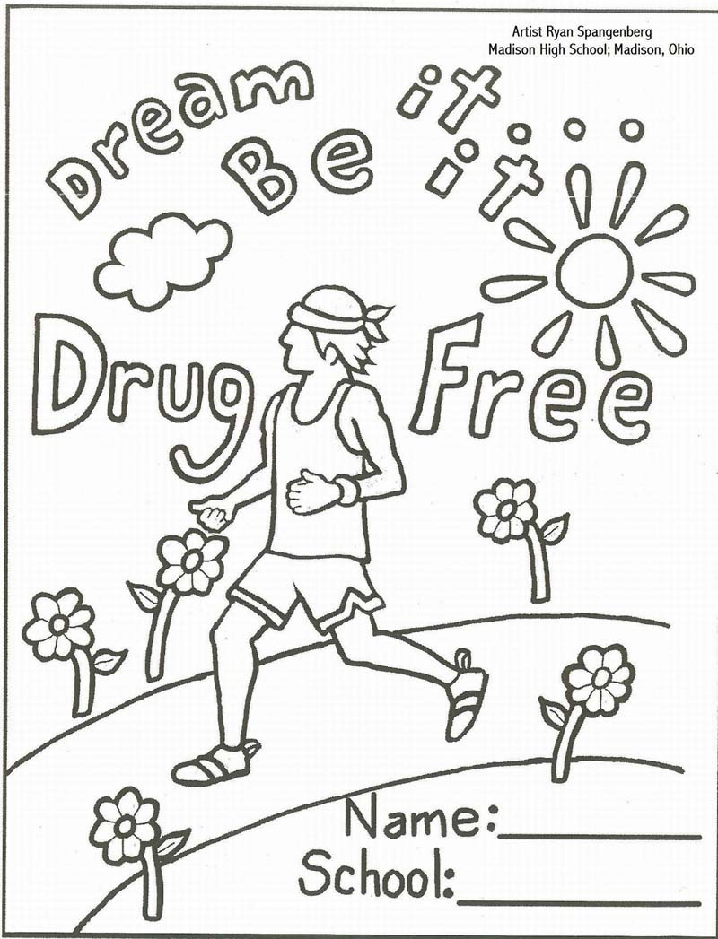 800x1047 Inspirational Pictures Of Red Ribbon Week Coloring Pages Oil