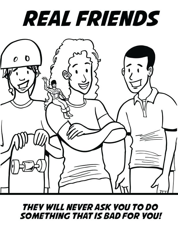 618x800 Drug Free Coloring Sheets Free Say No To Drugs Coloring Pages Hugs