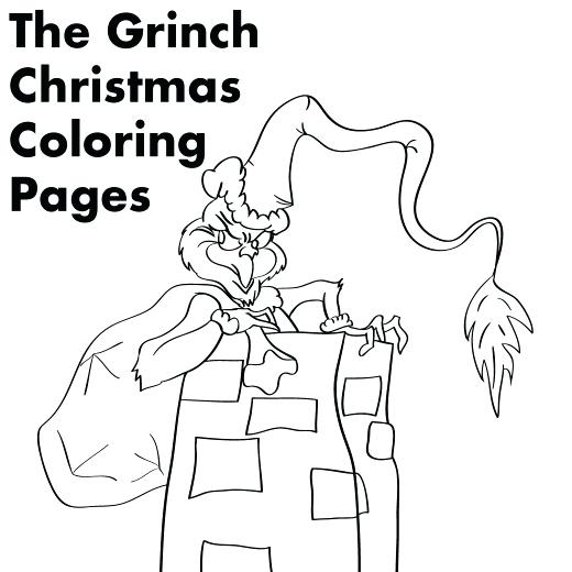 520x520 Printable Coloring Pages Coloring Pages For The Who Stole Grinch